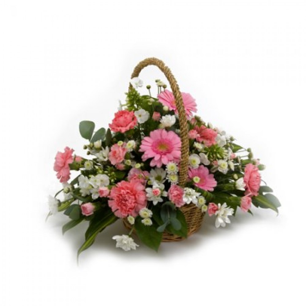 Pretty Basket Floral Art Design